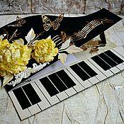 Открытки ручной работы. Ярмарка Мастеров - ручная работа Открытка-рояль на день рождения, открытка музыканту ручной работы. Handmade.
