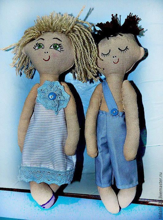 Человечки ручной работы. Ярмарка Мастеров - ручная работа. Купить куклы-сплюшки. Handmade. Бежевый, кукла для девочки