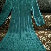Одежда handmade. Livemaster - original item Knitted dress Lapis. Handmade.
