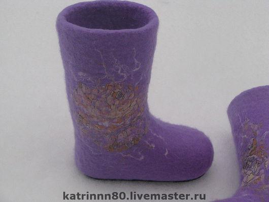 """Обувь ручной работы. Ярмарка Мастеров - ручная работа. Купить Валеночки """"Нежность"""" на 29 размер. Handmade. Фиолетовый, подарок на новый год"""