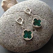 "Украшения handmade. Livemaster - original item Earrings ""СRUISE"" (silver, natural chrysocolla). Handmade."