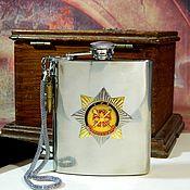 Сувениры и подарки handmade. Livemaster - original item Flask with the symbols of RUSSIA