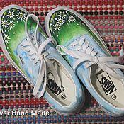 Обувь ручной работы. Ярмарка Мастеров - ручная работа Кеды Ромашковое поле. Handmade.
