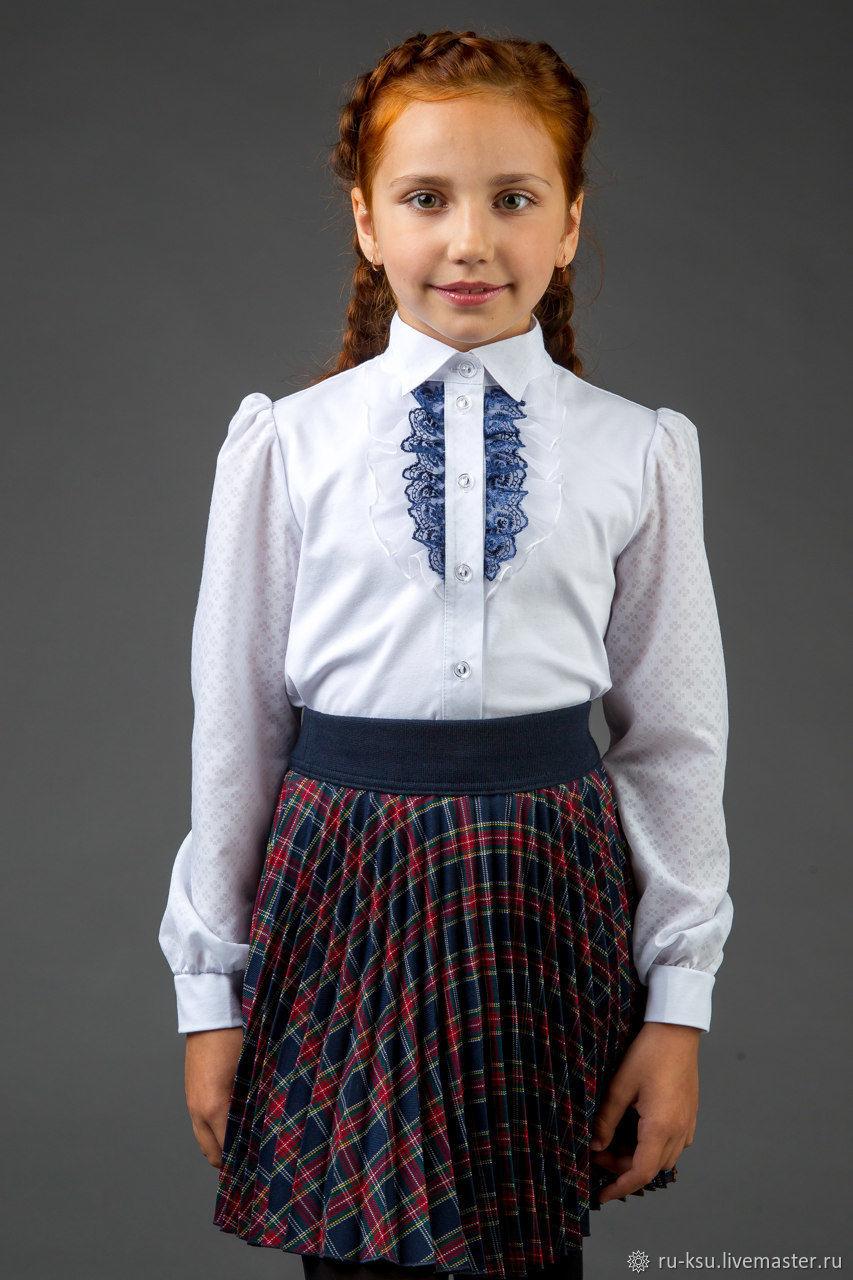 adf3360ed6f Красивая школьная блузка (BL134) – купить в интернет-магазине на ...