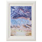 Картины и панно handmade. Livemaster - original item Watercolor Birds. Handmade.