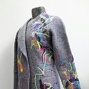 Одежда handmade. Livemaster - original item Handmade coat – cardigan Graffiti on grey. Handmade.