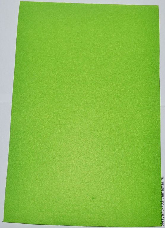 to buy felt. the basis for embroidery. felt for embroidery. the basis for the beadwork. felt sheet 1,4 mm 20 x 30 color: bright green. OleSandra beads beads. Fair Masters.