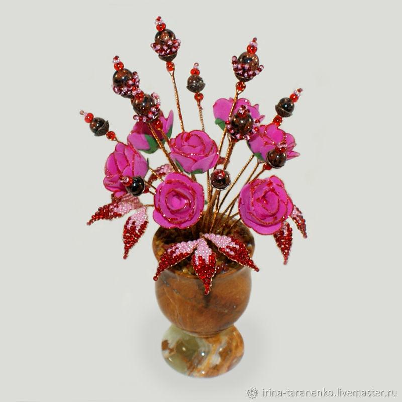 Flowers from aventurine ' Fragrance of love`