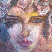 Картины и панно handmade. Livemaster - original item Painting with pastels - the essence of a woman SIRIN. Handmade.