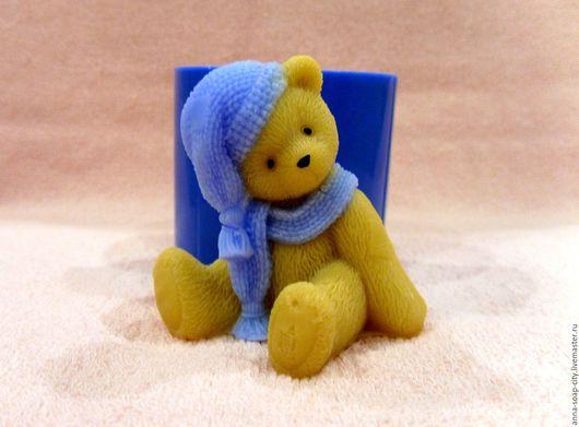 """Другие виды рукоделия ручной работы. Ярмарка Мастеров - ручная работа. Купить Силиконовая форма для мыла """"Мишка Тедди в шапочке и шарфике 1"""". Handmade."""