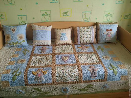 """Текстиль, ковры ручной работы. Ярмарка Мастеров - ручная работа. Купить """"Девочки-красавицы"""". Handmade. Бежевый, подарок на любой случай"""