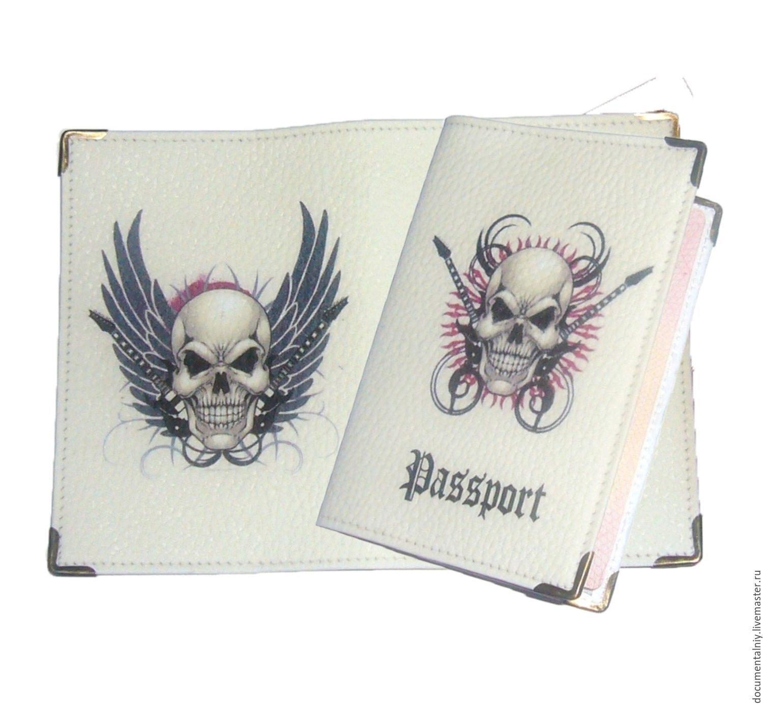 Covers handmade. Livemaster - handmade. Buy Cover for a passport, a series of 'Jolly Roger'.Cover