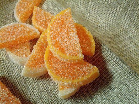 """Скраб ручной работы. Ярмарка Мастеров - ручная работа. Купить Скраб для тела """"Сахарные дольки"""". Handmade. Оранжевый, увлажнение"""