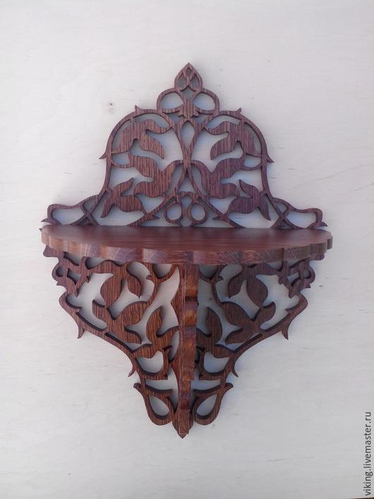 Мебель ручной работы. Ярмарка Мастеров - ручная работа. Купить Полка дубовые листья (R-668). Handmade. Полка, узор