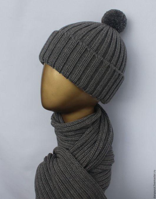 Комплект шапка, шарф подходит к любым стилям одежды.