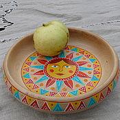 """Посуда ручной работы. Ярмарка Мастеров - ручная работа Плошка """"Ясно солнышко"""". Handmade."""