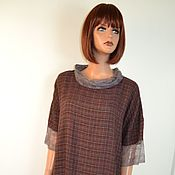 Одежда handmade. Livemaster - original item Light boho dress with a loose fit made of viscose a staple with lace. Handmade.