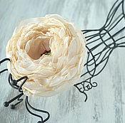 Украшения handmade. Livemaster - original item Brooch, fabric flower Peony. Handmade.
