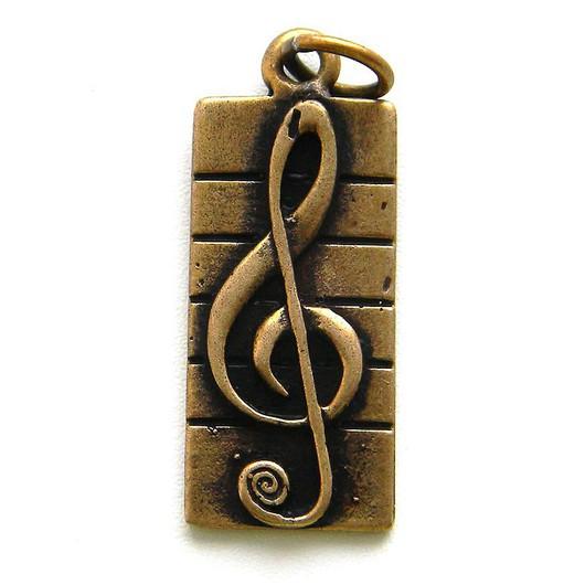 Кулоны, подвески ручной работы. Ярмарка Мастеров - ручная работа. Купить Кулон Скрипичный ключ (1) Подвеска скрипичный ключ Красивый кулон. Handmade.