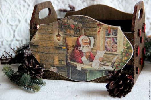"""Новый год 2017 ручной работы. Ярмарка Мастеров - ручная работа. Купить Ящик для конфет/ игрушек """"Дедушка мороз..."""". Handmade."""