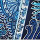 """Шали, палантины ручной работы. Платок из натурального шёлка """"Сады Махарани"""" Hermes. Lady AKT. Интернет-магазин Ярмарка Мастеров."""