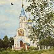 Картины и панно handmade. Livemaster - original item Holy Trinity Church. Handmade.
