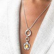 Украшения handmade. Livemaster - original item Pendant solar mother-of-pearl yellow natural on a chain. Handmade.