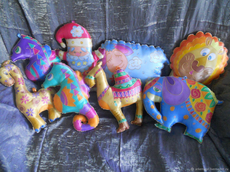Toys-pillows for children's room