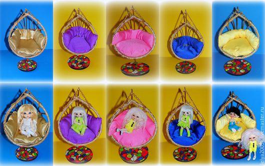 """Кукольный дом ручной работы. Ярмарка Мастеров - ручная работа. Купить Кокон-качели """"Калейдоскоп"""" для кукол и мишек. Handmade. Разноцветный"""