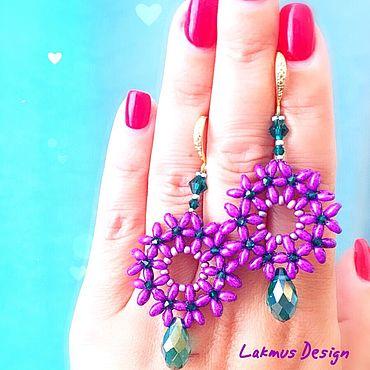 Украшения ручной работы. Ярмарка Мастеров - ручная работа Серьги Душистая Сирень - Earrings Sweet Lilac. Handmade.
