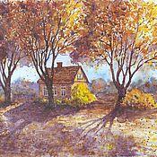 Картины и панно ручной работы. Ярмарка Мастеров - ручная работа Осенне солнце. Handmade.