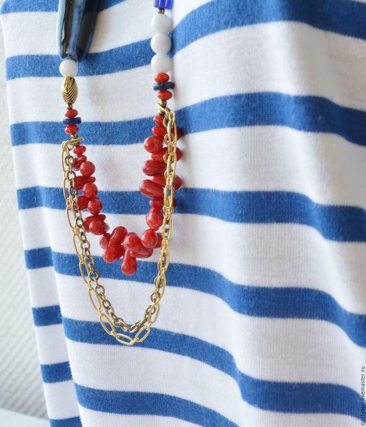 бусы длинные,купить бусы ,бусы в морском стиле ,подарок женщине ,украшения ,украшение ручной работы ,бусы на каждый день ,креативные бусы ,стильное украшение