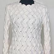 Одежда ручной работы. Ярмарка Мастеров - ручная работа пуловер СаМАНТА. Handmade.