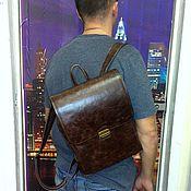 Сумки и аксессуары handmade. Livemaster - original item Backpack leather 300. Handmade.