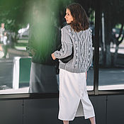 Одежда handmade. Livemaster - original item Jerseys: Women`s sweater with oversized knobs in light grey color. Handmade.