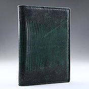 Канцелярские товары handmade. Livemaster - original item Cover for auto documents made of lizard skin IMR0011VG1. Handmade.