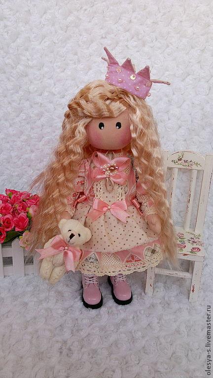 Коллекционные куклы ручной работы. Ярмарка Мастеров - ручная работа. Купить Princess Christina. Handmade. Бледно-розовый, подарок подруге