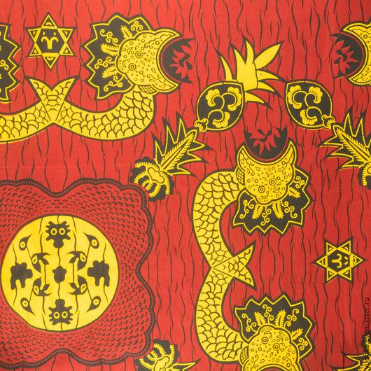 """Шитье ручной работы. Ярмарка Мастеров - ручная работа. Купить Голландская ткань, хлопок 100%, """"Драконы"""". Handmade. Комбинированный"""