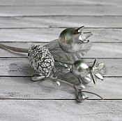 Материалы для творчества handmade. Livemaster - original item Bouquet with fir cones, silver, 13 cm. Handmade.