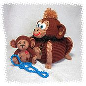 Stuffed Toys handmade. Livemaster - original item A set of monkey box and a toy. Handmade.