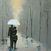 Картины и панно ручной работы. Ярмарка Мастеров - ручная работа Двое под белым зонтом. Handmade.
