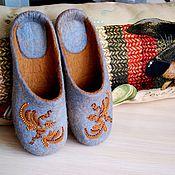 """Обувь ручной работы. Ярмарка Мастеров - ручная работа """" Осенняя пора..."""" валяные тапочки. Handmade."""