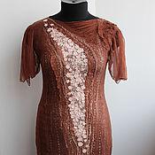 Одежда ручной работы. Ярмарка Мастеров - ручная работа Валяное платье Карамельная нежность. Handmade.