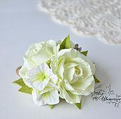 Свадебный салон handmade. Livemaster - original item Barrette with roses