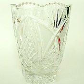 Винтаж handmade. Livemaster - original item Crystal vase 1. Handmade.