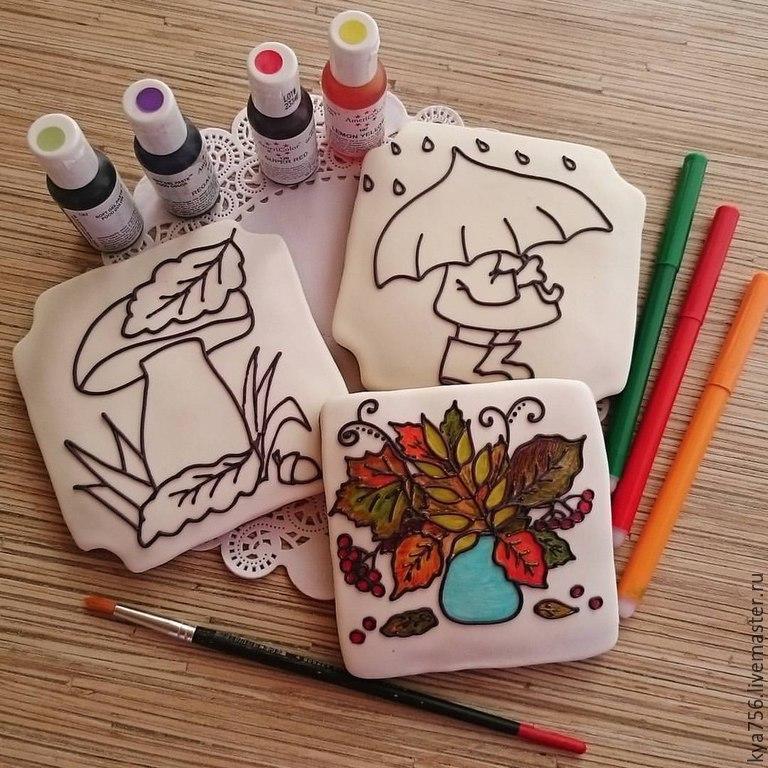 Чем нарисовать рисунки на прянике