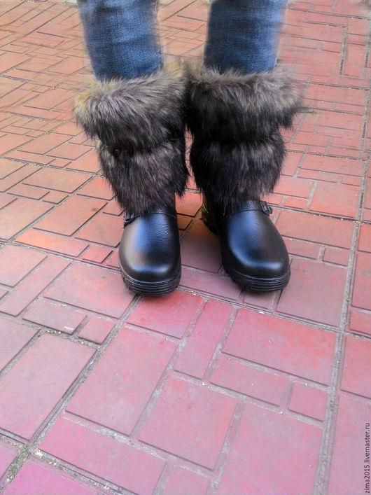 Обувь ручной работы. Ярмарка Мастеров - ручная работа. Купить Унты мужские С-180. Handmade. Коричневый, монголки