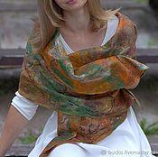 Аксессуары handmade. Livemaster - original item Autumn colors - felted tippet. Handmade.