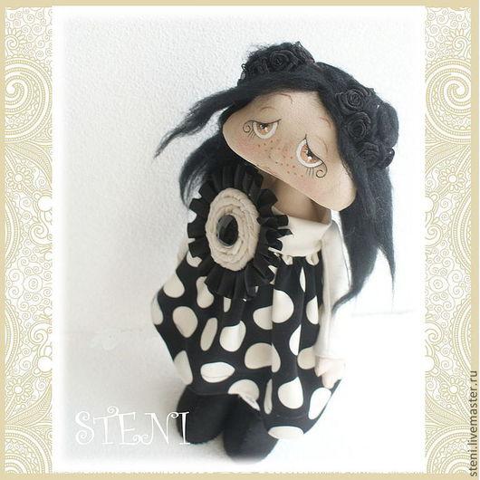 Коллекционные куклы ручной работы. Ярмарка Мастеров - ручная работа. Купить Авторская кукла Нелли. Handmade. Чёрно-белый