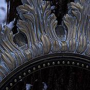 Для дома и интерьера ручной работы. Ярмарка Мастеров - ручная работа Круглая резная рама для зеркала из массива бука.. Handmade.
